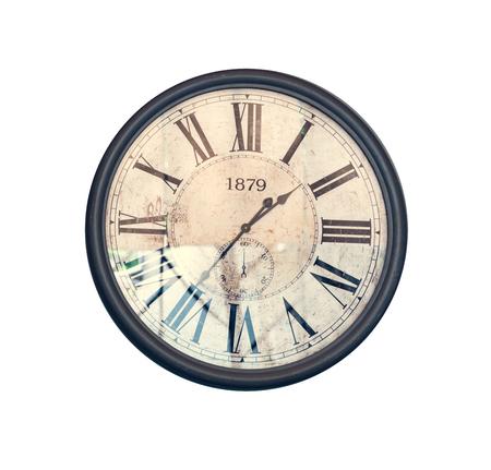 vespers: Grunge old vintage clock face