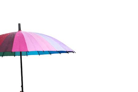 rainbow umbrella: Rainbow umbrella on white background