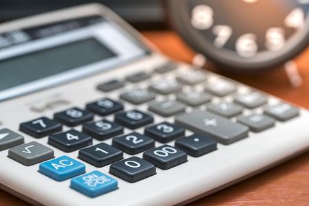 paralegal: calculator Stock Photo