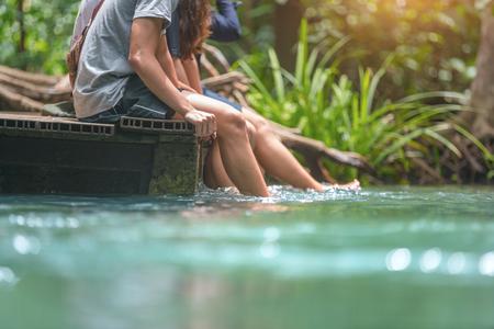 Friends Tour Emerald Pool Krabi Thailand. Reklamní fotografie