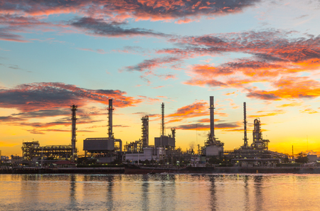 Oil refinery industry Stock Photo