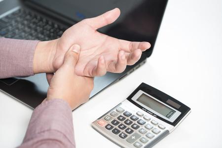 occupational: sore wrist - occupational disease Stock Photo