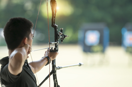 The archery has a goal to win.