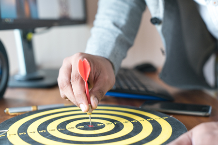 Targeting or planning the right darts to the center of the business center.