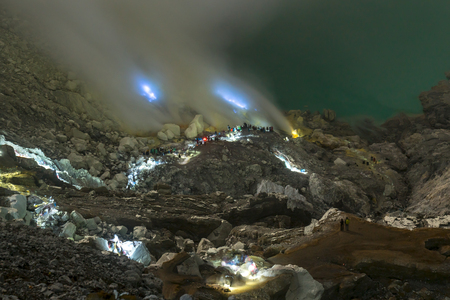 Landscape in Mt Ijen, East Java, Indonesia