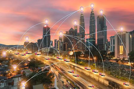 global business Technology GPS transport Use tracking Foto de archivo