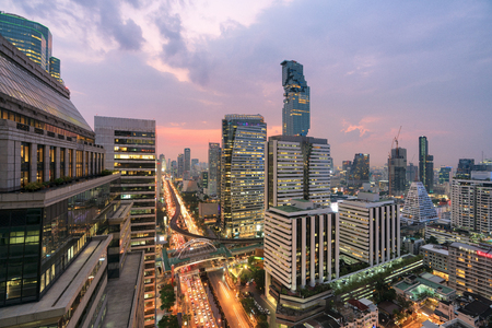 The bank is a business city. bangkok