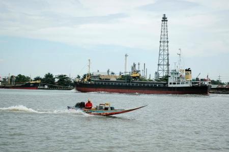 phraya: Chao Phraya, el r�o de la vida I Foto de archivo