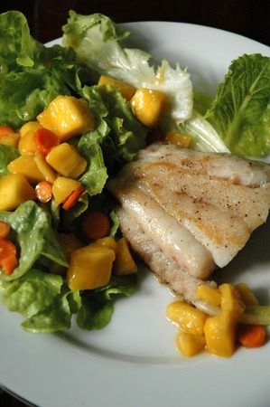 Fish Steak with Ripe Mango Salad photo