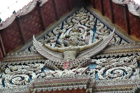 mounting: Vishnu Mounting the Garuda Tympanum of Old Chapel