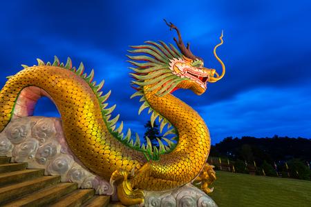 china people: Wat Hyua Pla Kang Chinese temple,Chiang Rai, Thailand.