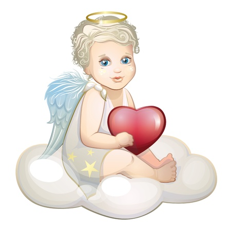14 february: Angel with heart