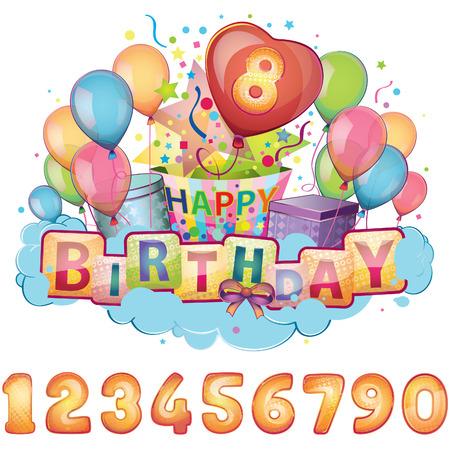 Alles Gute zum Geburtstag Set Standard-Bild - 22406831