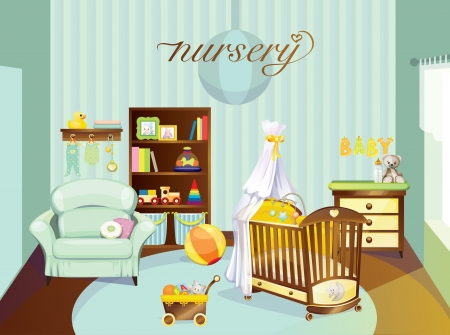 nursery room: Nursery Illustration