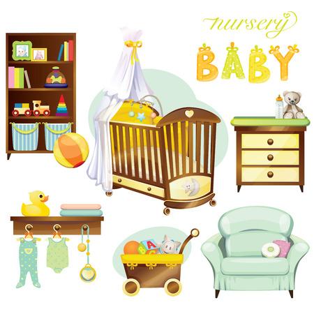 ensemble de bébé Nursery Vecteurs