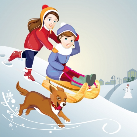 winter vacation Vector