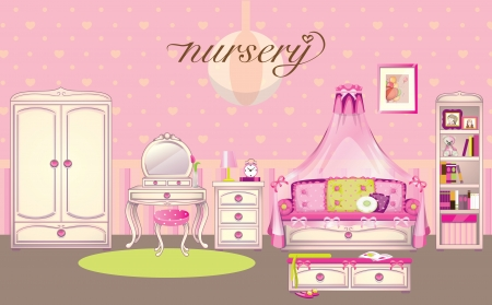 chest wall: Girls room interior