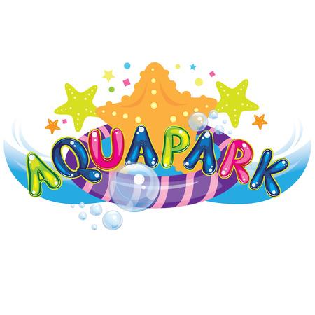 aqua park Vector Illustration