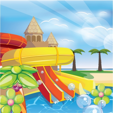 water park: vector water park Illustration