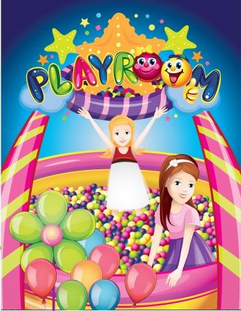 playroom: cuarto de jugar Vectores