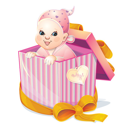firstborn: baby girl in box
