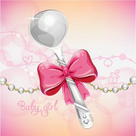 it s a girl: silver spoon baby girl