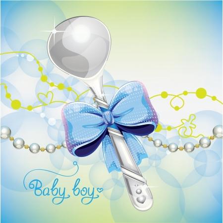 it s a boy: silver spoon baby boy Illustration