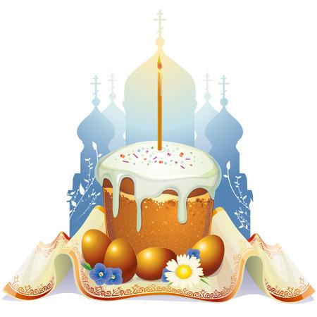 easter cake: Easter cake Illustration