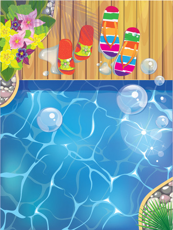 substrate: pool slippers