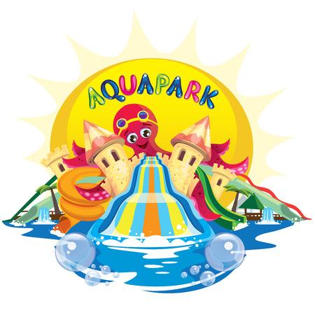 aqua park: aqua park with octopus