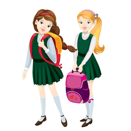 school uniform: schoolgirls