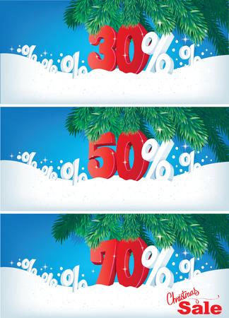 Christmas sale set Vector