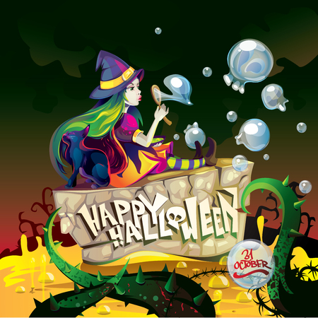 charmer: happy halloween witch Illustration