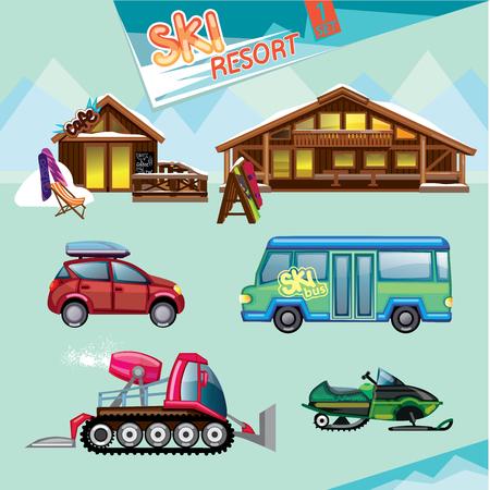 ski resort: ski resort set