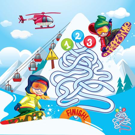 ski: maze snowboard