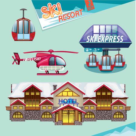 resort: ski resort set