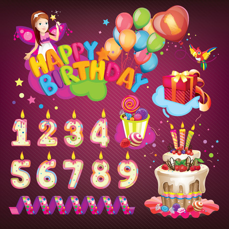 baby 4 5 years: Happy Birthday set