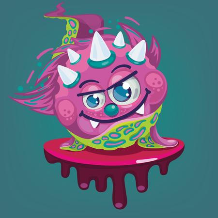 cartoon little virus