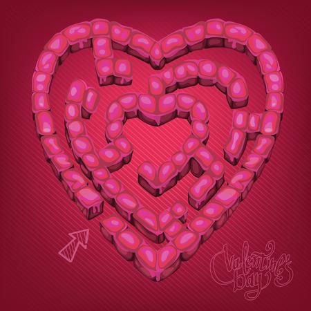 acquaintance: Valentines Day maze game