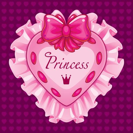 pillows: Little princess pink card