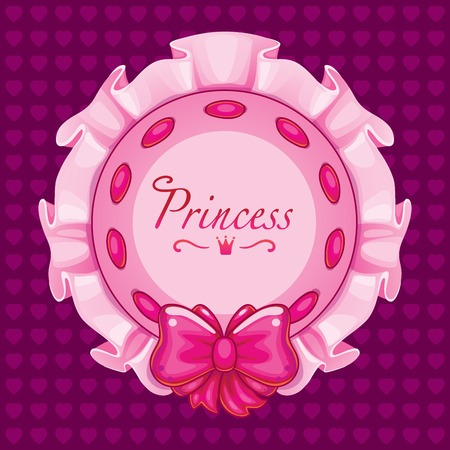 pink pillow little princess. bow with ribbon