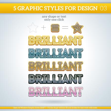 Zestaw różnych stylów graficznych do projektowania i innych