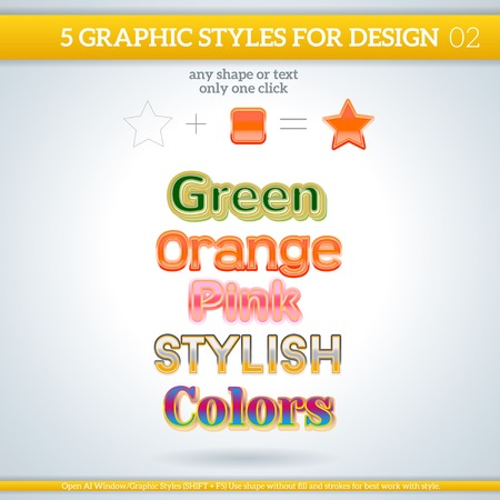 Set of Various Graphic Style for Design and other  Vector