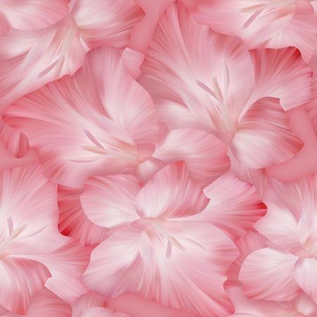 textil: Modelo rosado encantador con cabezas gladiolo. Textura original para el diseño textil.