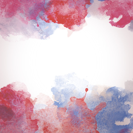 messy: Red Watercolor Paper Backdrop with place for text. Original design elements. Stock Photo