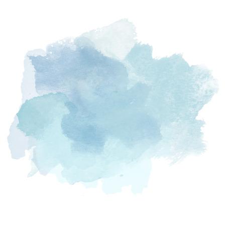 Design of Cold Blue Watercolor Splash for various decor. Paper Illustration. Stock Photo