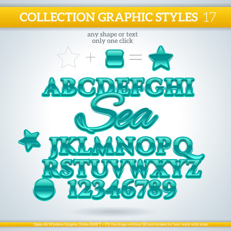 Graphic styles can be use for decor, text, title, cards, events, posters, icons,