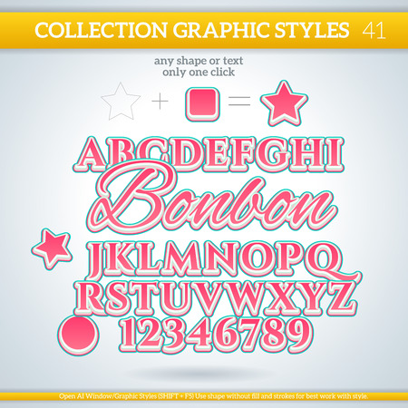 bonbon: Bonbon Graphic Styles for Design. Graphic styles can be use for decor, text, title, cards, events, posters, icons,
