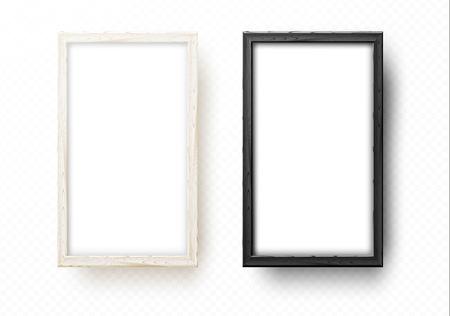 Two wooden frames for mock up. Artistic wood frame for