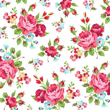 Naadloos bloemenpatroon met rode rozen